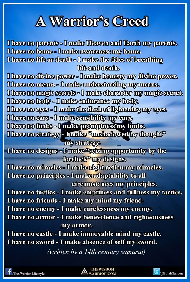 A Warrior S Creed