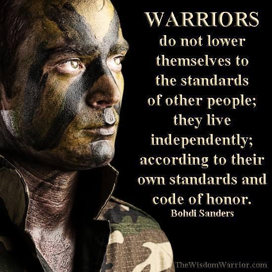 warrior code quotes quotesgram