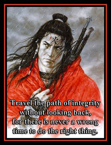 Warriors travel the path of integrity