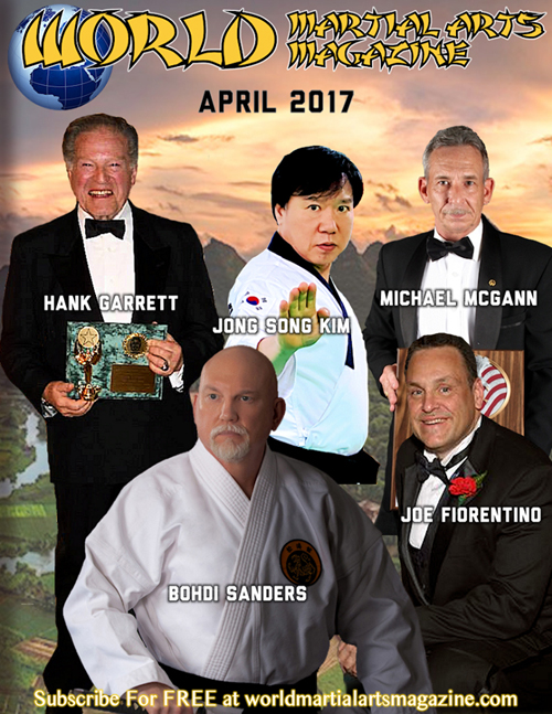 Dr. Bohdi Sanders appears on Cover of World Martial Arts Magazine